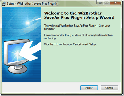 Installer save as plus